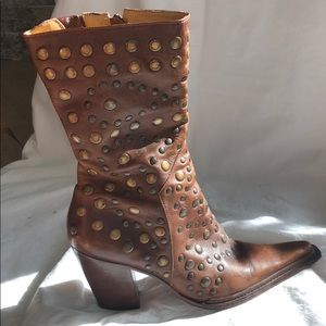 Barely worn Bridget Shuster boots with stud detail